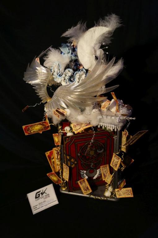 Card Captor Sakura on the Fly over the Book where all Cards run free