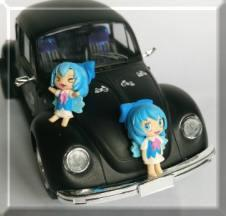 1/24 VW Beetle 1303S with little Cirno's