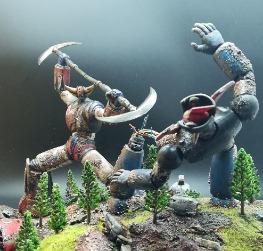 UFO Robot Grendizer Fight Diorama