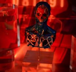 赛博风机器人胸像