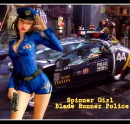 Spinner Girl Blade Runner Police  - 1974