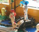 Rei and Asuka Yukata Diorama