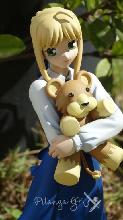 Saber with Teddy Bear