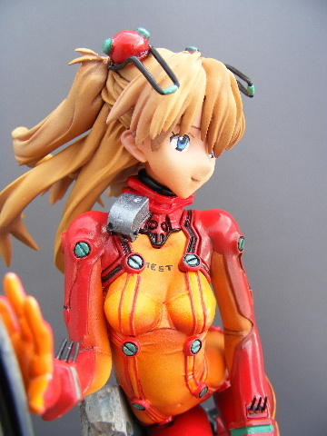 Asuka in test plug suit