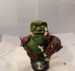 warcraft orc bust
