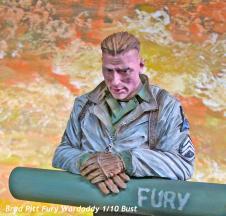 Brad Pitt Fury Wardaddy Bust-1642