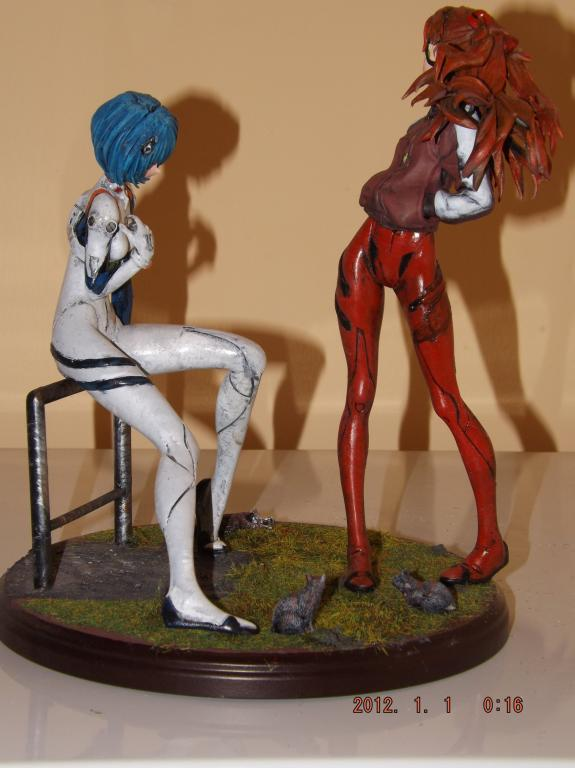 Rei and Asuka In The Nerv Ruins