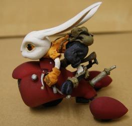 Rabbit on a motor trick