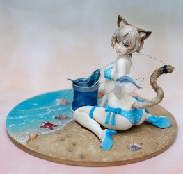 Beach Kitty by Comaccow