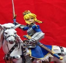 Saber Arturia Pendragon mounted