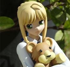Saber with Teddy Bear