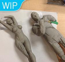 GK Contest 1/8 WIP (Original Sculpt)