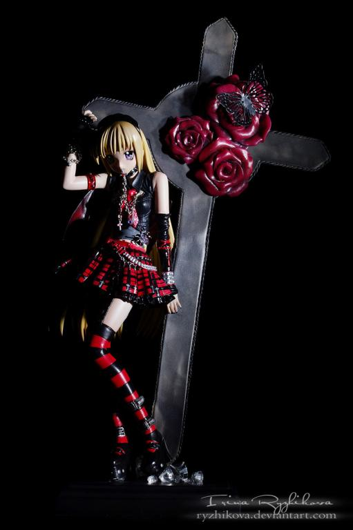 Gothic Dress Devil Girl