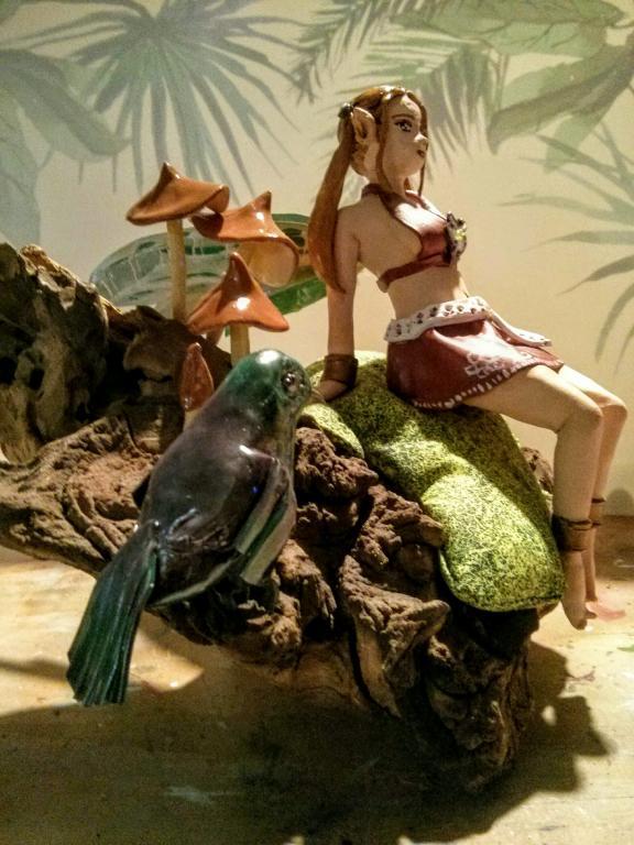 Elfe mit Kolibri