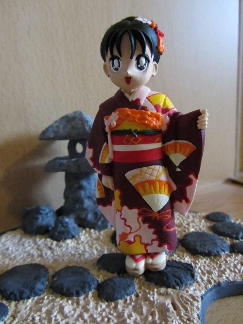 Sailor Moon - Rei Child in Kimono