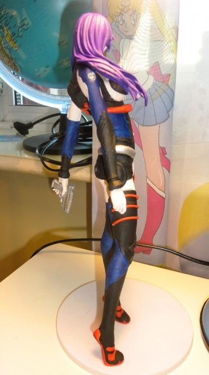 Misato in Plugsuit painted with the brushes