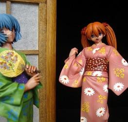 Asuka e Rei in Yukata