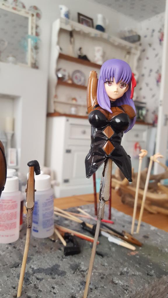 Sakura matou latex catsuit version
