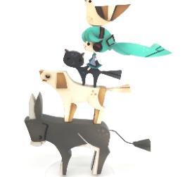 Hatsune Miku and the animals band