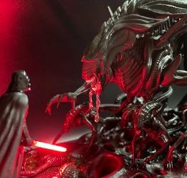 Alien Queen Battle with Darth Vader