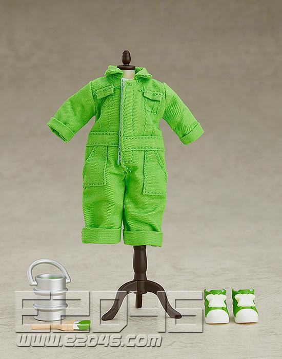 Nendoroid 娃娃套装彩色连身裤黄绿色 (PVC)