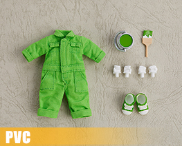 PV9964  Nendoroid Doll Clothes Set Colorful Jumpsuit Yellow Green (PVC)