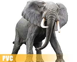 PV9063  African Elephant Redecorate Version (PVC)