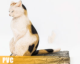 PV9430  The Meditating Cat Calico Cat (PVC)