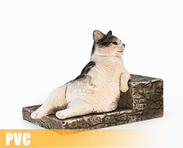PV9433  The Relaxing Cat Tabby Cat (PVC)