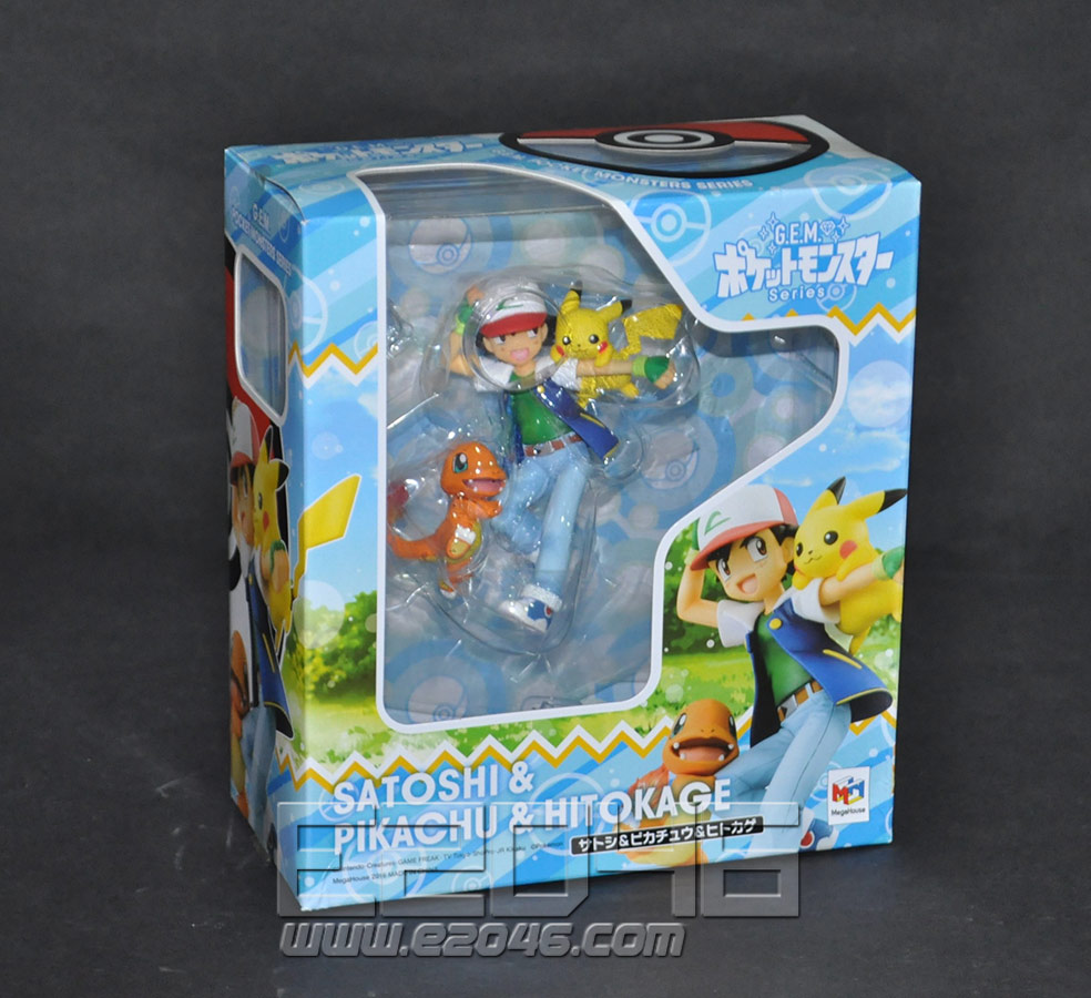 Ash Ketchum and Pikachu and Charmander (PVC)