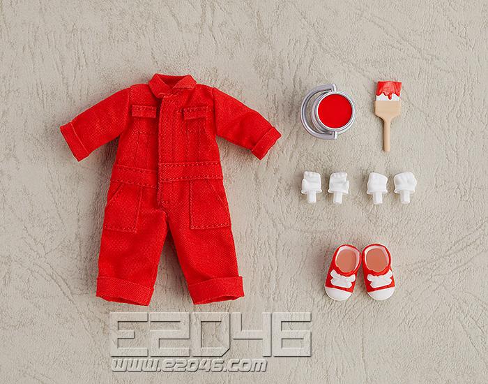 Nendoroid Doll Clothes Set Colorful Jumpsuit Red (PVC)