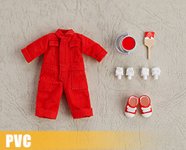 PV9966  Nendoroid Doll Clothes Set Colorful Jumpsuit Red (PVC)