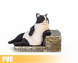 PV9434  The Relaxing Cat Piebald Cat (PVC)