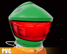 PV10964  Astronauts 2.0 Red Suit & Green Helmet (PVC)