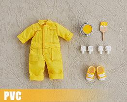 PV9967  Nendoroid Doll Clothes Set Colorful Jumpsuit Yellow (PVC)