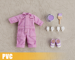 PV9965  Nendoroid Doll Clothes Set Colorful Jumpsuit Purple (PVC)