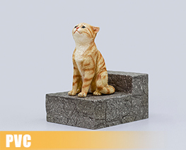 PV9746  The Sad Cat Red Tabby (PVC)