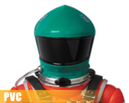 PV9499  太空服绿色头盔与橙色套装版 (PVC)