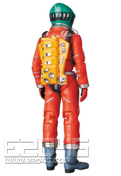 太空服綠色頭盔與橙色套裝版 (PVC)