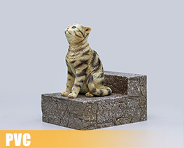 PV9745  The Sad Cat Brown Tabby (PVC)