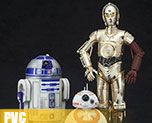 PV5978 1/10 R2-D2 & C-3PO with BB-8 (PVC)