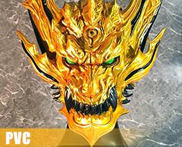 PV10045  Dark Knight Head Model Gold Version (PVC)