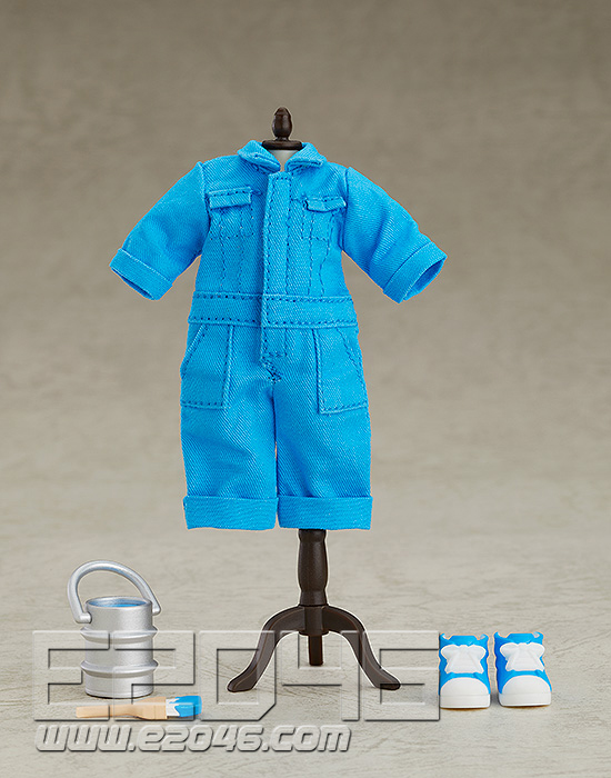 Nendoroid Doll Clothes Set Colorful Jumpsuit Blue (PVC)