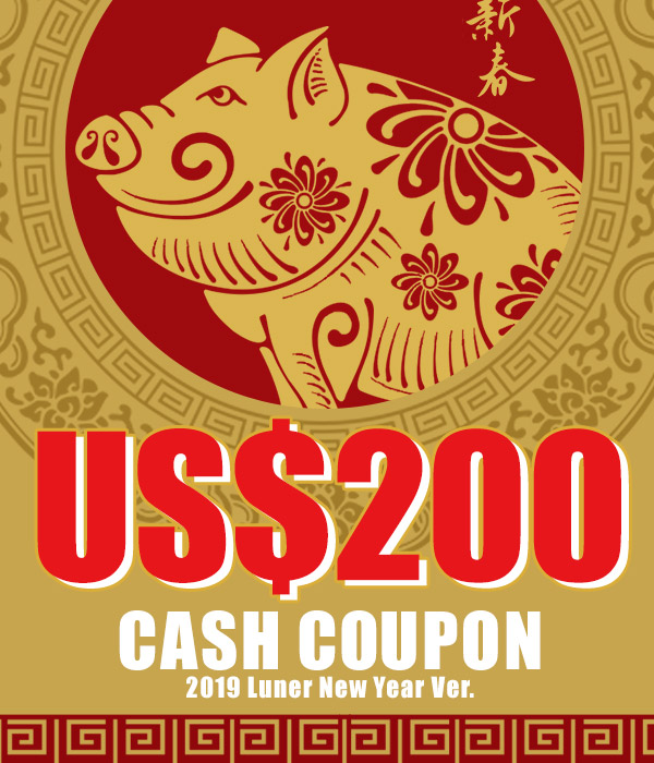 US$ 200.00 Cash Coupon