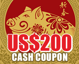 DG0018  US$ 200.00 Cash Coupon