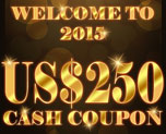 DG0005  US$ 250.00 Cash Coupon
