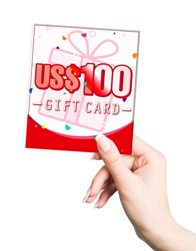 米ドル100.00 ギフトカード