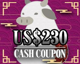 DG0038  US$ 230.00 Cash Coupon