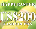 DG0007  US$ 200.00 Cash Coupon