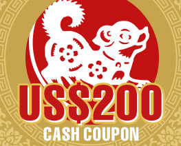 DG0013  US$ 200.00 Cash Coupon